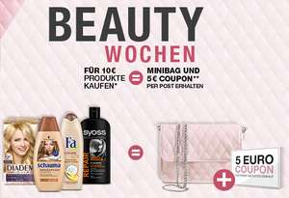 Beautywochen 2018 sichert euch den 5€ Gutschein auf Syoss, Schwarzkopf, Taft, Schauma, GlissKur, Fa, Bac