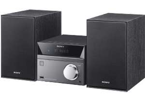 Sony CMT-SBT40D Micro-HiFi System (40 Watt, CD-Player, FM/AM-Tuner, Bluetooth, NFC, USB) schwarz [Saturn]