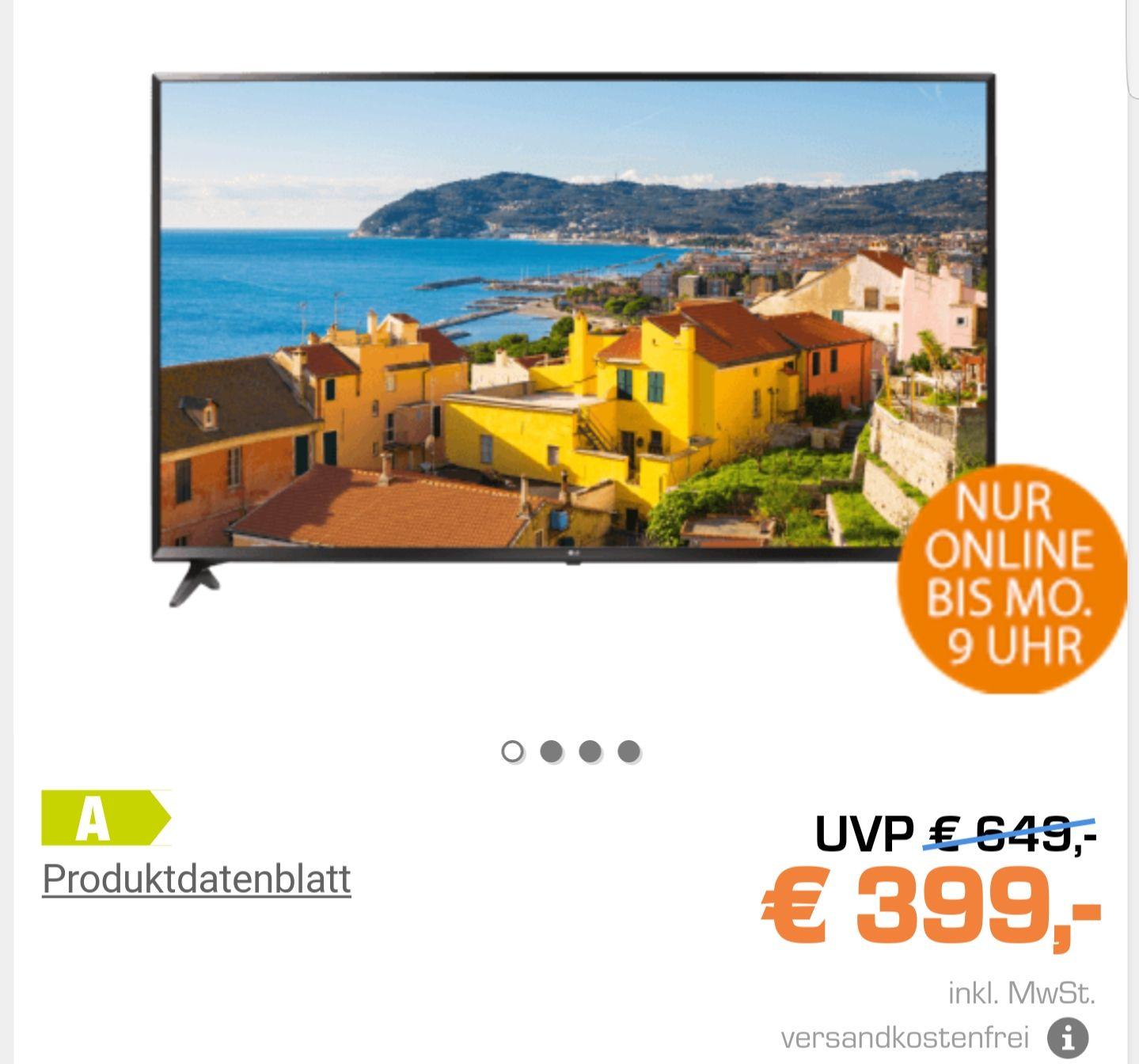 Saturn: LG 43UJ6309 43 Zoll TV statt 649 Euro nur 399 Euro (VSK Frei) bis Montag 9 Uhr