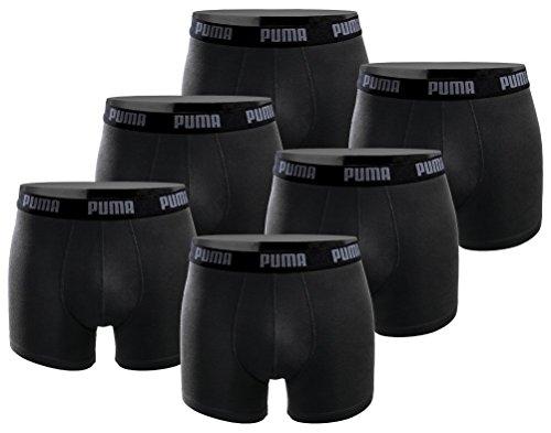 PUMA Herren Boxershort im 6er Pack Basic Limited Black Edition in allen Größen verfügbar