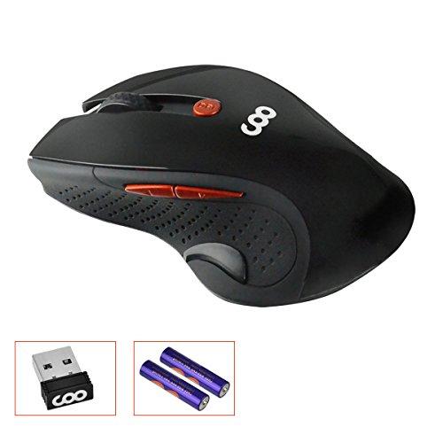 Wireless Maus,  2.4GHz 1600 DPI Gaming für 5,84€