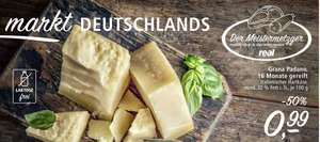 [real] Grana Padano Käse 0,99€ / 100g