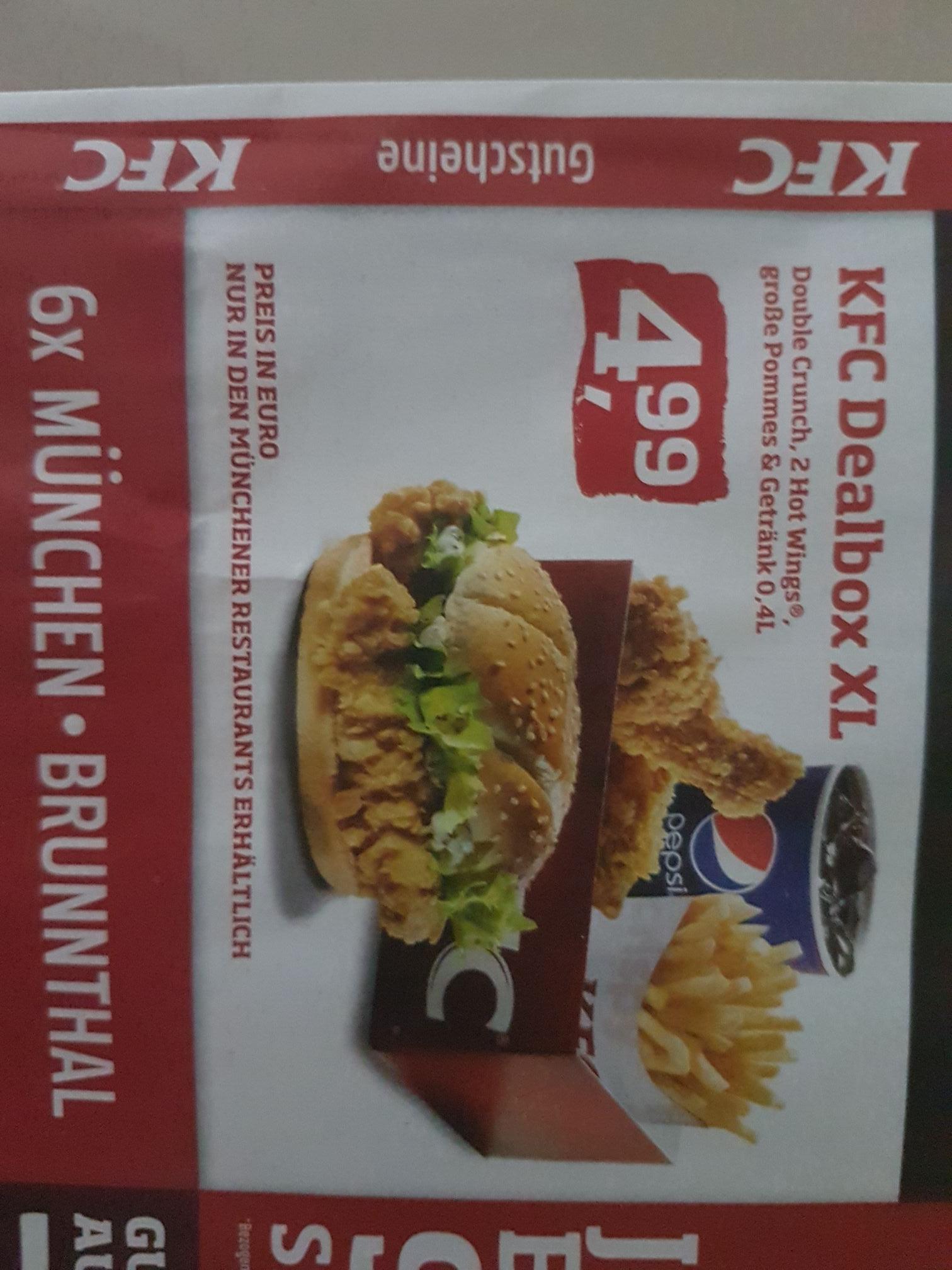[Lokal München & Stuttgart] KFC Dealbox XL für 4,99€