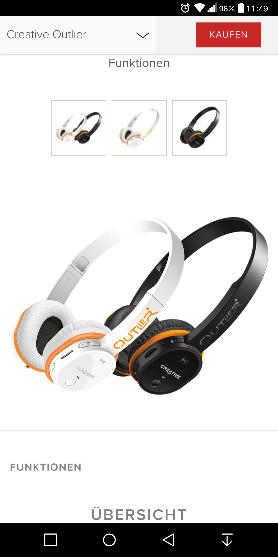 Creative Outlier On Ear Kopfhörer inkl. Versandkosten