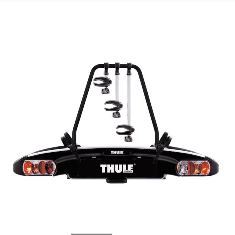 THULE Fahrradheckträger E-Family 937 - Trägersystem für 3 Fahrräder