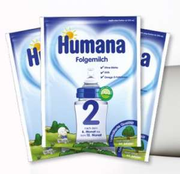 Humana Folgemilch kostenlos testen (3 Tütchen)