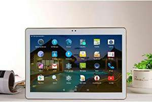 Cewaal 10-Zoll-Tablets  Octa-Core-3G Dual-SIM-4G + 64GB Bluetooth 2560 * 1600 Tablet PC mit Kamera (EU PLUG)