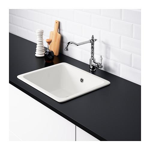 ikea domsj einbausp le aus keramik 1 becken wei f r. Black Bedroom Furniture Sets. Home Design Ideas