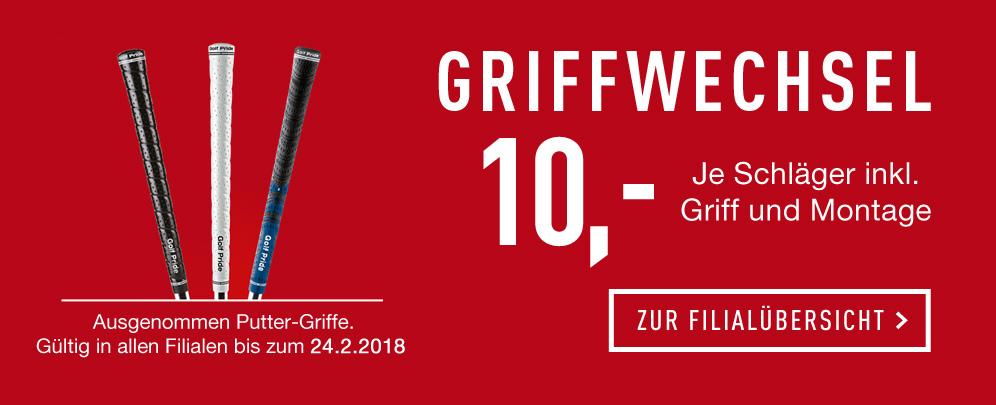 Golf Griffwechsel für 10€ pro Schläger inkl Griffe nach Wahl
