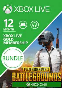 Xbox Live Gold – 12 Monate + PlayerUnknown's Battlegrounds (Xbox One Download Code)