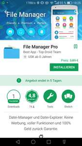 [Play Store] App: File Manager Pro (ohne Werbung)