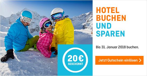 20€ Gutschein bei hotel.de ab 120€ Buchungswert