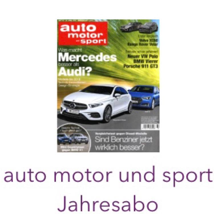 Deutschlandcard Prämie - Auto Motor Sport Jahresabo