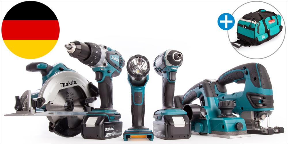 Heimwerker Grundausstattung - MAKITA 18 V Powertool-Set DLX6044PT
