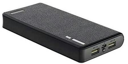 Powerbank 20000 mAh - 2.1 A, 2x USB, Schwarz oder Blau + Mikro-USB Kabel
