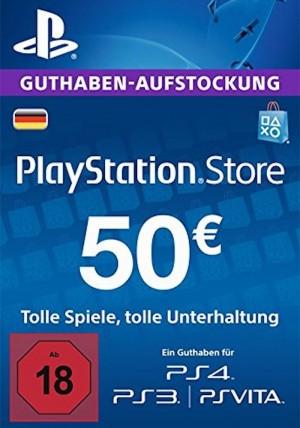 PSN Guthaben € 50 für € 39,42 (Games Rocket)