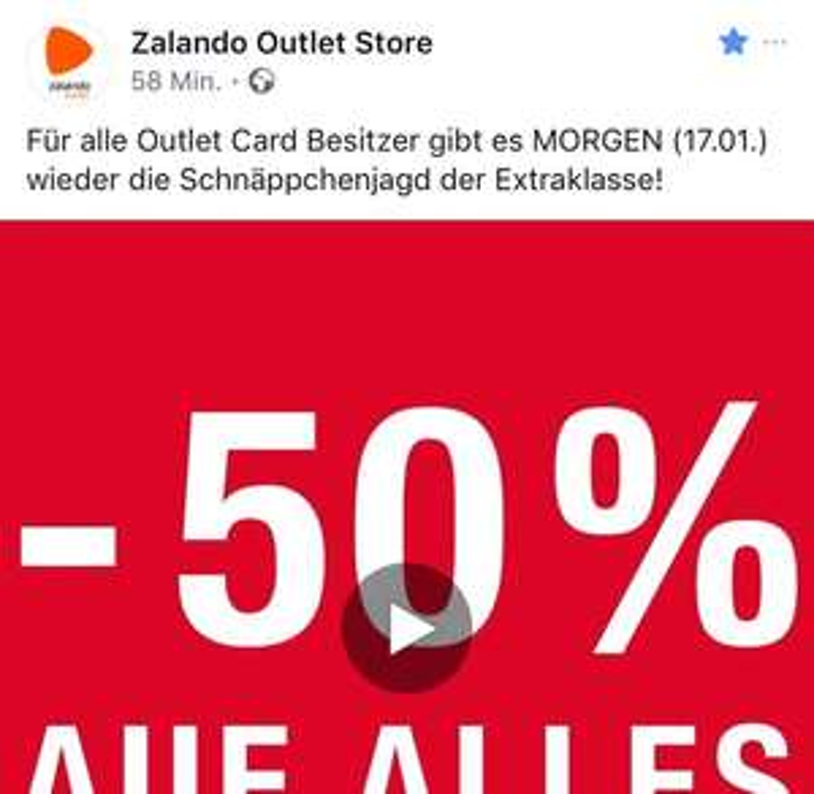 LOKAL (CGN, FFM, BER  Zalando Outlet 50% auf alles