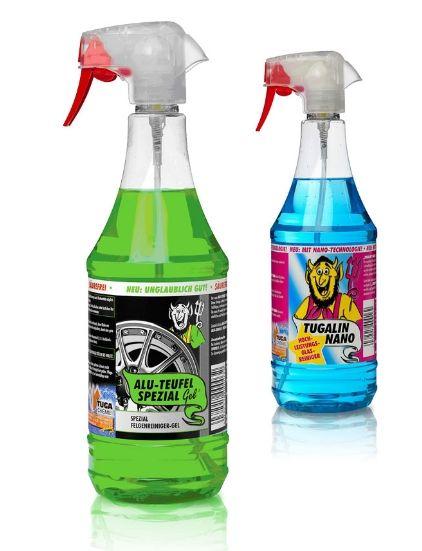 Tuga Chemie Alufelgen Reiniger Alu-Teufel Spezial 1 l + Glasreiniger Tugalin Nano 1 l gratis - Angebot NUR ONLINE