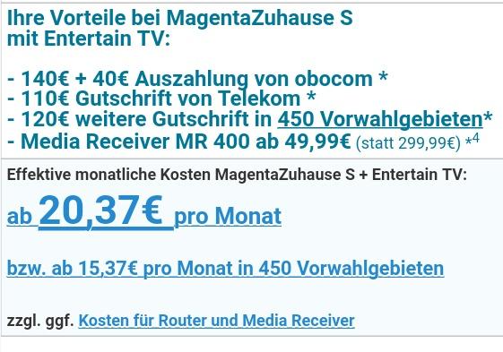 [obocom] Telekom Magenta Zuhause S 16MBit DSL für 24 x 11,62€ für Wechsel mit Regio-Vorteil