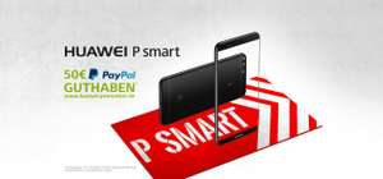 Huawei P Smart / 50€ Cashback auf ein Paypal Konto ab dem 1.2.2018