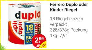 [NP-Discount] 18er Big Pack Ferrero Duplo oder Kinder Riegel