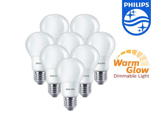 iBOOD Vorschau für den 17.01. z.B. 8x Philips WarmGlow LED-Lampe E27 6 Watt dimmbar für 30,90 € (51,50 € PVG)