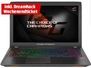 Media Markt: ASUS ROG Strix GL553VD-FY076T Gaming Notebook ink Dreamhack Wochenendticket gratis nur 1099 Euro