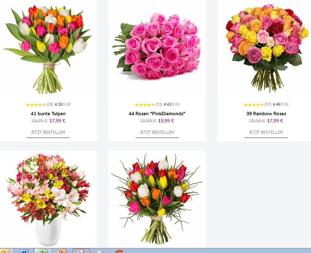 (Blumeideal.de) Valentinstags Aktion -14% schon jetzt dran denken!