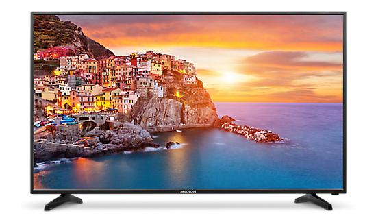 Medion Life P18114 - 49 Zoll 4K UHD Fernseher, 1200Hz, Edge-lit, 3x HDMI 2.0, Triple Tuner mit H.265, CI+ 1.3, VESA für 386,60€ (Medion)