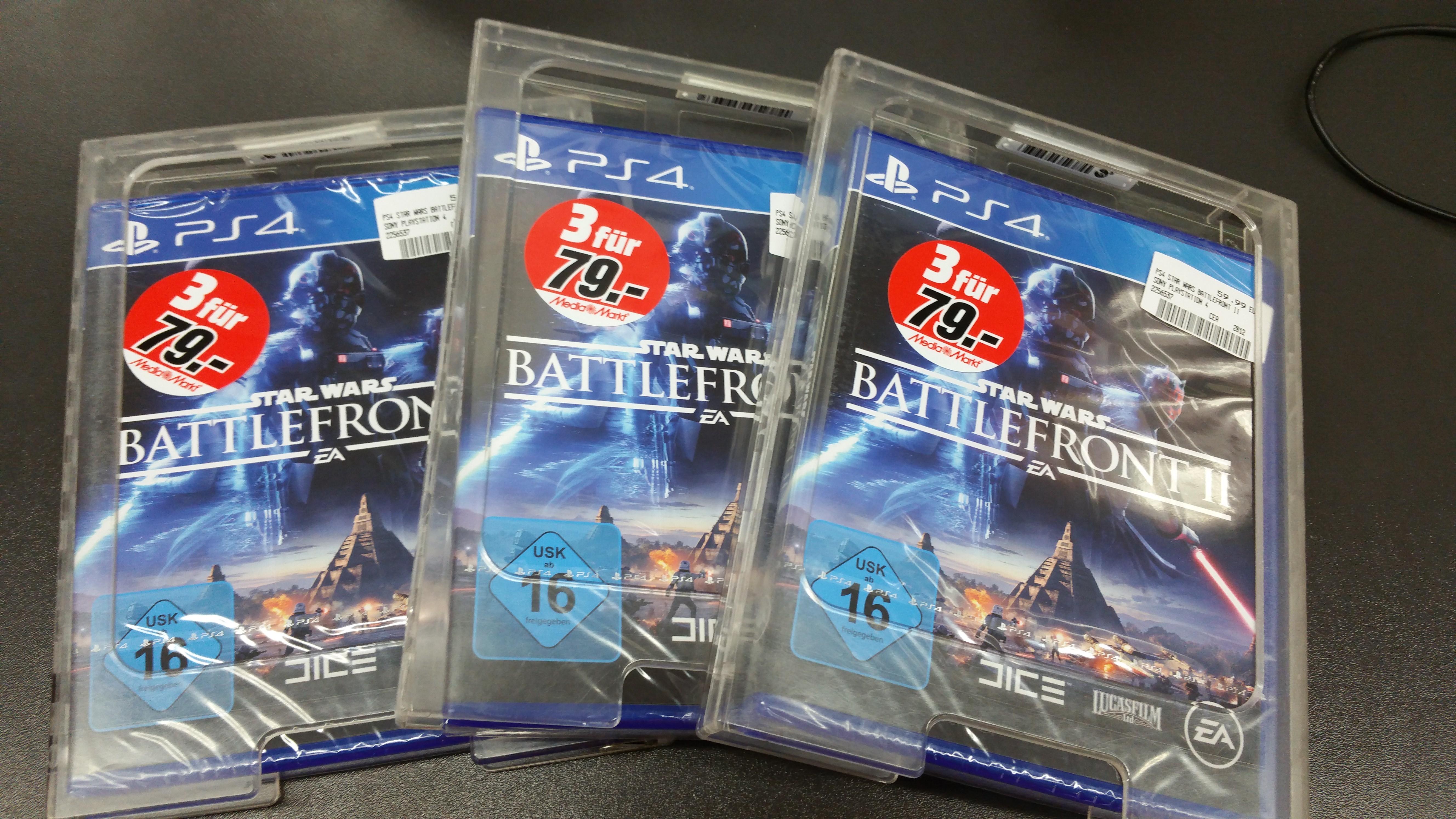 lokal MM Main Taunus Zentrum PS4 Star Wars Batltefront 2 / FIFA 18 (Switch)  in 3für79
