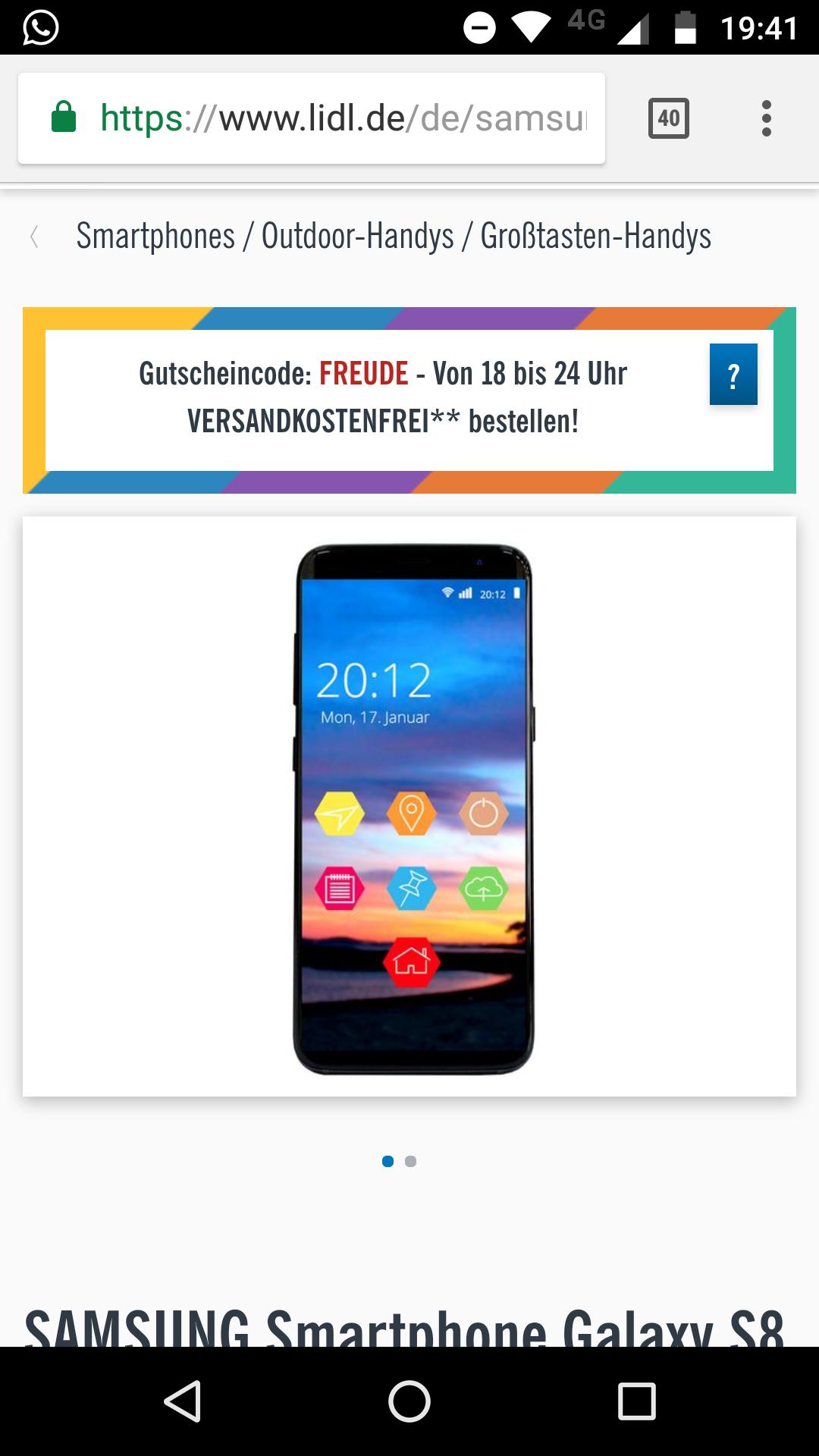 Samsung Galaxy s8, LIDL