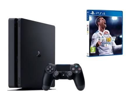Sony PlayStation 4 Slim, 1TB, inkl FIFA 18