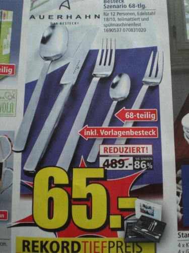 Auerhahn Besteck Szenario 68-tlg beim Segmüller Weiterstadt für 65€