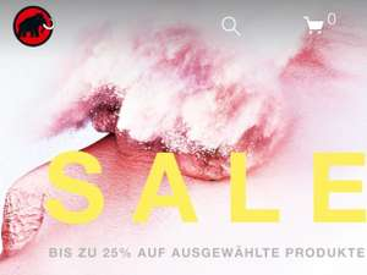 Mammut Sale 40%, z.B. Fleece Runbold ML für 69€ oder Jacke Alyeska Pro HS für 419€
