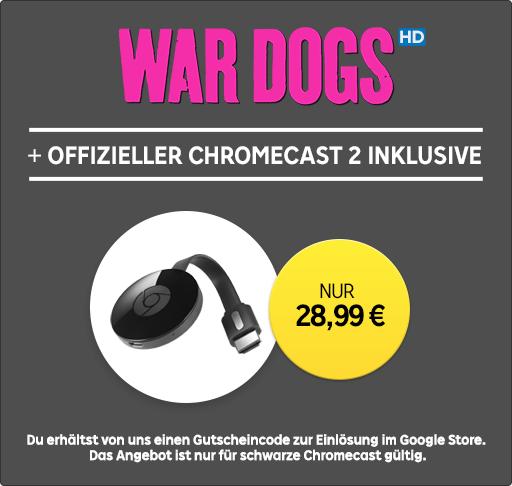 [Rakuten.tv] Chromecast 2 + War Dogs LEIHFILM für 28,99€ (Kreditkarte notwendig!)