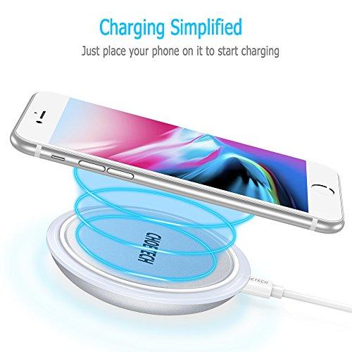 [AMAZON] Wireless Charger, QI Wireless Ladegerät mit Smart Lighting Sensor