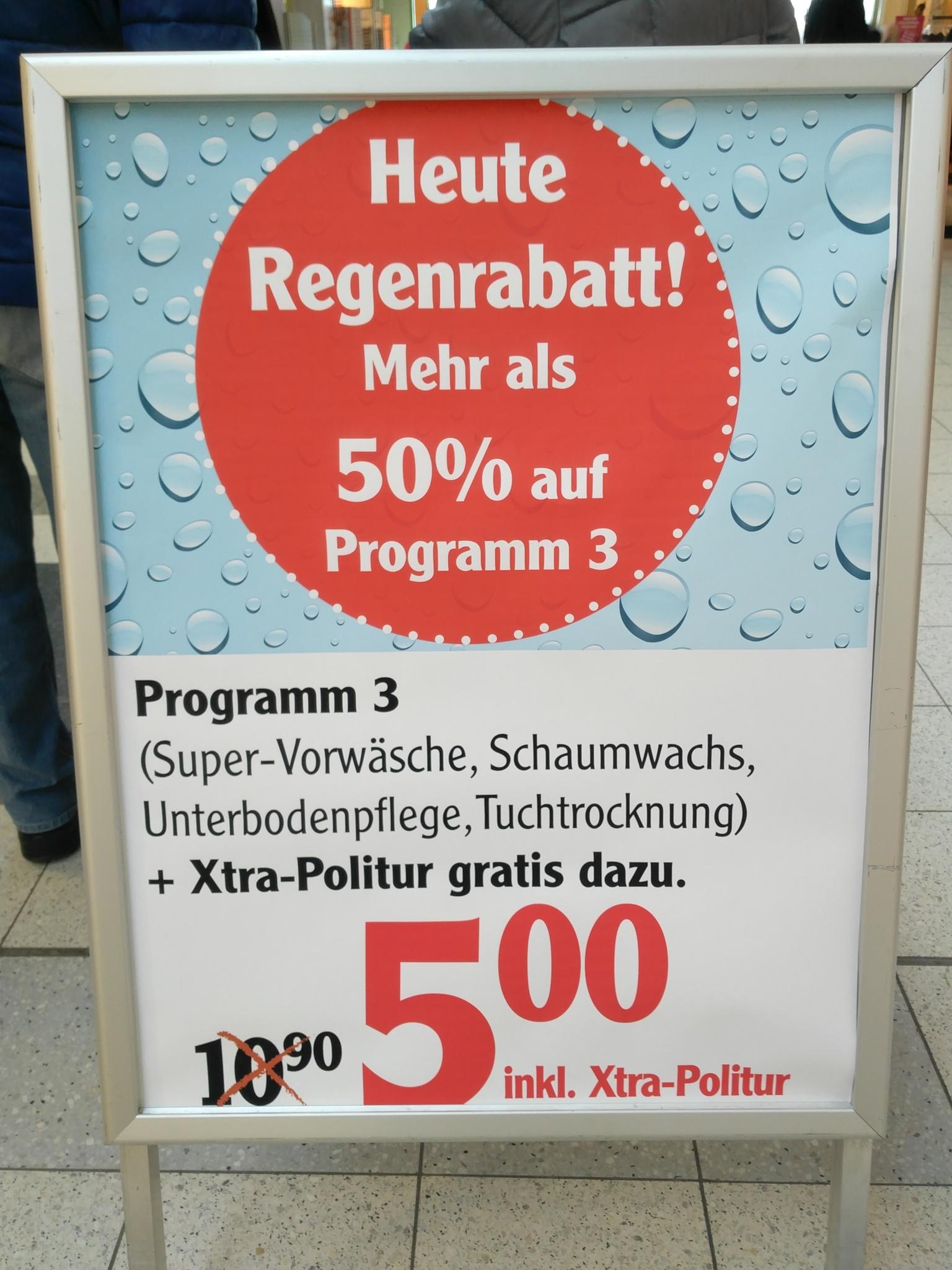 """Autowäsche """"Programm 3"""" bei Globus Grünstadt - über 50% Ersparnis"""