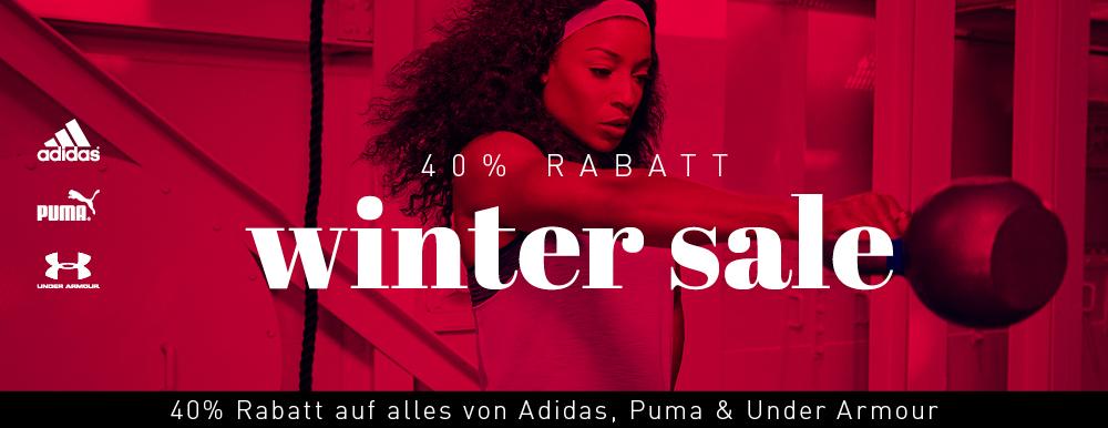 mysportswear: 40% auf adidas; Puma und Under Armour