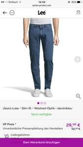 Ab jetzt: Jeans Luke - Slim-fit - Washed-Optik - denimblau