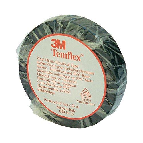 [AMAZON PRIME] 3M TSCH1510 Temflex 1500 Vinyl Elektro-Isolierband, 15 mm x 10 m, 0,15 mm, Schwarz