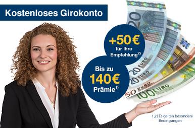 kostenloses Girokonto 1822direkt 140€ Prämie + 50€ KWK