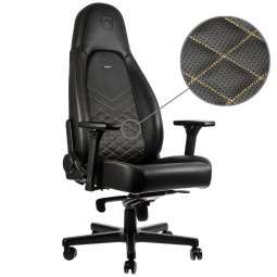 Noblechairs ICON gaming Stuhl schwarz/gold
