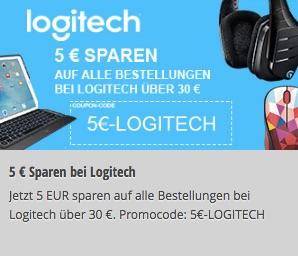Logitech: 5 € Rabatt auf alle Bestellungen sparen (30 € MBW)