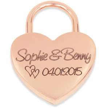 Liebesschloss Geschenk für Valentinstag mit Geschenkschachtel 32% Rabatt
