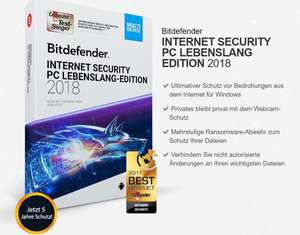 5 Jahre Bitdefender 2018 Security PC Internet Antivirus