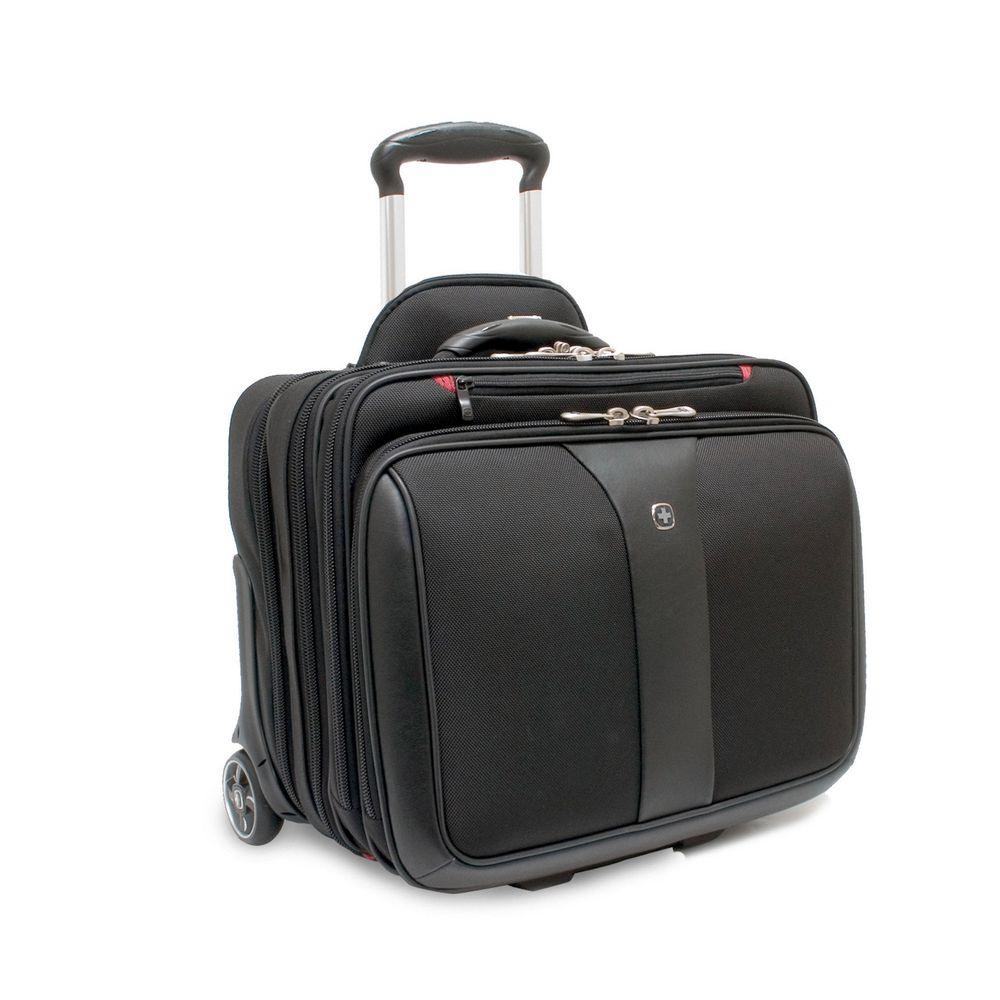 Wenger Patriot 17-Zoll-Laptoptasche mit Rollen, Polyester, gepolstert, schwarz