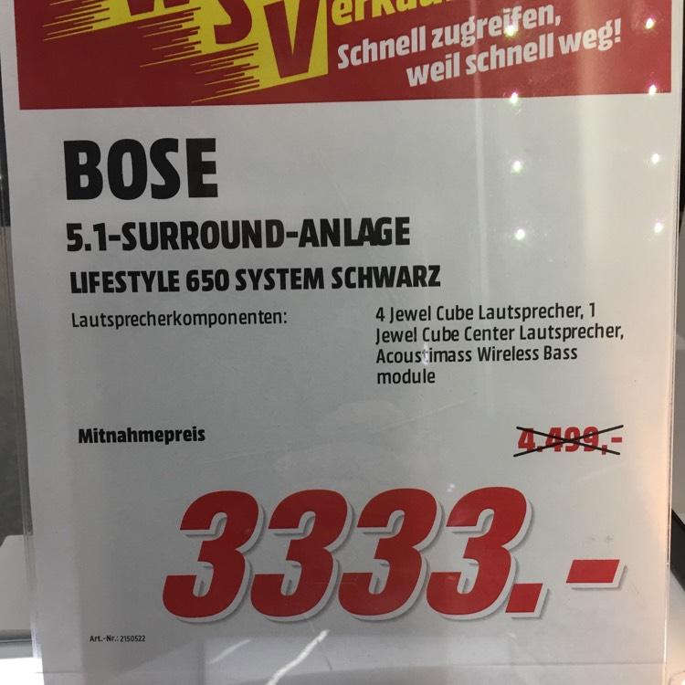 [Lokal: MM Köln-Chorweiler] BOSE Lifestyle 650 Surround System