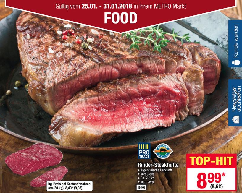 [Metro] Steakhüfte *** Argentinien: 9,62€/kg *** Australien: 13,90€/kg