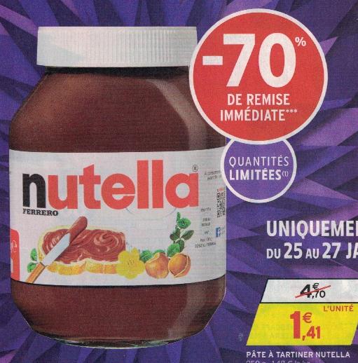 [Grenzgänger FR] Nutella zum Hammerpreis von 1,41€/950g also 1,48€/kg bei Intermarché FR vom 25. bis 27. Januar