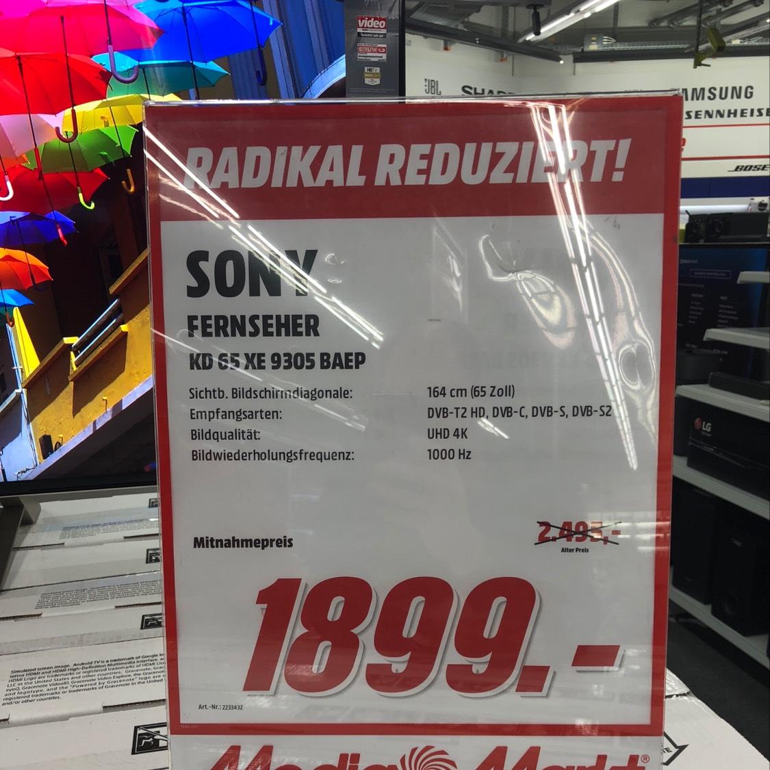 [Lokal] MM Bonn Sony KD 65 XE 9305